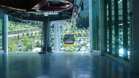 Cable car station. Sun moon lake cable car station in Taiwan Stock Photos