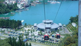 Cable car station. Sun moon lake cable car station in Taiwan Stock Images