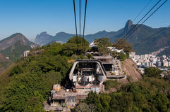 Cable Car Station on Urca Mountain Stock Photos