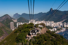 Cable Car Station on Urca Mountain Stock Image