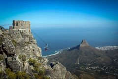 Free Cable Car Station View On Top Of Table Mount, Cape Town Stock Photo - 125266230