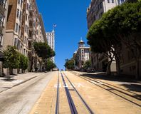 Cable car street Stock Photography