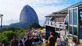 Cable Car Sugarloaf Mountain Rio De Janeiro Brazil Stock Images
