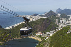 Cable car on Sugarloaf Royalty Free Stock Images