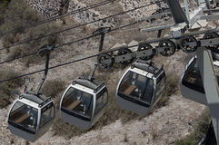 Cable car in a summer day Royalty Free Stock Photos