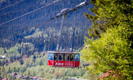 Are 2019. Are cable car in Sweden Royalty Free Stock Photo