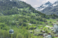 Cable Car in Switzerland Stock Images