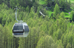 Cable Car in Switzerland Royalty Free Stock Images