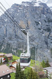 Cable Car in Switzerland. Cable Car with mountain background in Switzerland Royalty Free Stock Photos