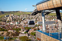 Cable car system in Tbilisi, Georgia Royalty Free Stock Photos