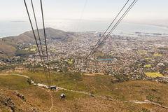 Cable car on Table Mountain in Cape Town Royalty Free Stock Image