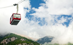Cable car at Tahtali. Mountain (Olympus), Turkey Stock Photography