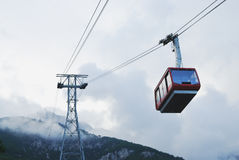 Cable car in Tahtali, Antalya, Turkey. View to cable car in Tahtali, Antalya, Turkey Royalty Free Stock Photo