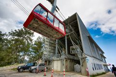 Cable car at Tahtali Royalty Free Stock Photo