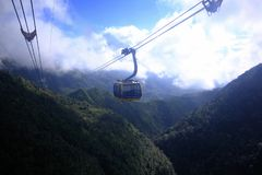 The cable car will take you up to the fansipan mountain. stock photography