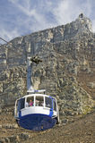 Cable Car takes tourists to the top of Table Mountain, Cape Town, South Africa royalty free stock photography