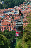 Cable Car of Tampa mountain, Brasov in Romania royalty free stock image