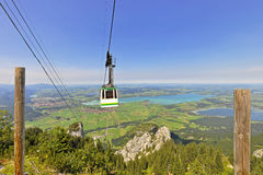 Cable car of the Tegelberg in the Allgäu Region Royalty Free Stock Photography