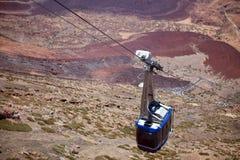 Cable Car on Teide Canarian islands, Tenerife. Cable Car on Teide volcano on Canarian islands, Tenerife stock photo