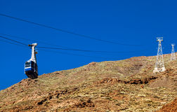 Cable Car in Teide National Park, Tenerife Royalty Free Stock Photos