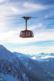 Cable Car Telepherique Aiguille du Midi Stock Images