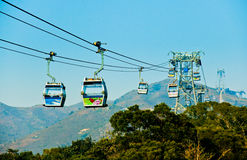 Cable car (Telpher) Royalty Free Stock Image