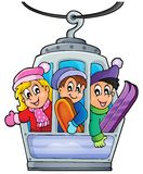 Cable car theme image 1 Royalty Free Stock Image