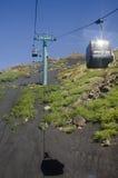 Cable-car till Etna Arkivbilder