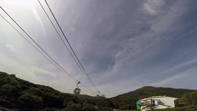 Cable car Time lapse in Hong Kong Royalty Free Stock Photography