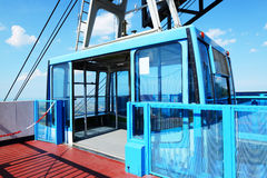 The cable car on Titano mountain Stock Images