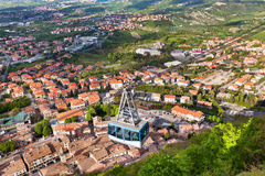 Cable Car at Titano mountain, San Marino Royalty Free Stock Photos