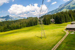 Cable car in the Titlis Switzerland Stock Photos