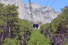 Cable car to Ai-Petri summit Royalty Free Stock Photo