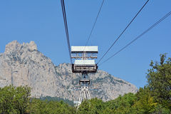 Cable car to Ai-Petri summit Stock Images