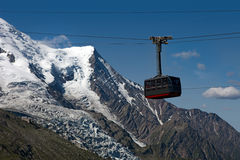 The cable car to Aiguille du Midi Royalty Free Stock Image