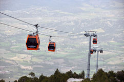 Cable car to Bagbasi plateau from Denizli city cente Royalty Free Stock Image