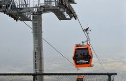 Cable car to Bagbasi plateau from Denizli city center Stock Photo