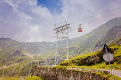 Cable car to Balea Lake over Transfagarasan Road Royalty Free Stock Photo