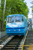 The cable car to the bottom station in the center of Kiev. Stock Photos