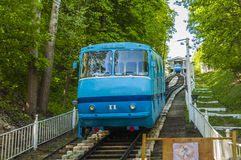 The cable car to the bottom station in the center of Kiev. Stock Image