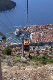 Cable Car to Dubrovnik, Croatia. Royalty Free Stock Photos