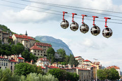 Cable car to Fort de La Bastille Stock Photography