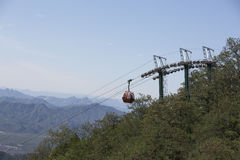 Cable car to Great Wall Royalty Free Stock Photography