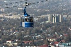 Cable Car to Kok Tobe Hill. In Almaty, Kazakhstan Stock Photos