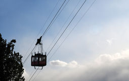 Cable car to the Lagazuoi, Dolomites, Veneto, Italy Stock Images