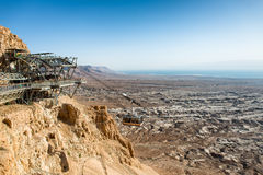 Cable car to Masada Stock Photos