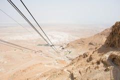 Cable car to Masada stock photos