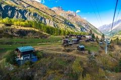 Cable car to Matterhorn in Zermatt Stock Photography