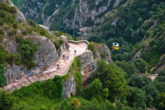 Cable Car to Monserrat Monastery Stock Image