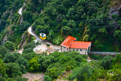 Cable Car to Monserrat Monastery Royalty Free Stock Photo